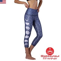 Just a Phase Highwaist Yoga Capri Leggings