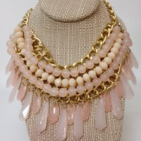 Pink Bead and Icicle
