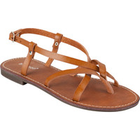 Bamboo Cable Womens Sandals Chestnut  In Sizes