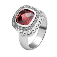 Gold Plated Ring Health Jewelry Nickel Free Austrian Crystal Size 8