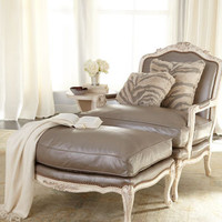 Old Hickory Tannery Silver Leather Chair & Ottoman