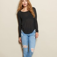 Crop Rounded Hem Sweater