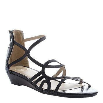 MADELINE - SIZZLE in BLACK Wedge Sandals