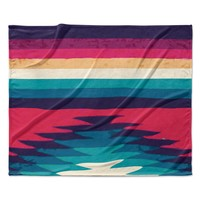 "Nika Martinez ""Surf"" Fleece Throw Blanket"