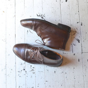 brown leather ankle boots / leather men's boots / by DearGolden