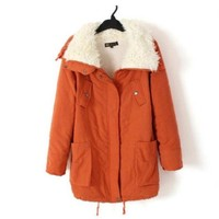 Promithi Womens Winter Cotton Parka Down Quilted Jacket