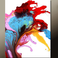 Abstract Fine Art Print  16x20 Matted Contemporary Wall Art Prints by Destiny Womack  - dWo - Heart of a Dreamer