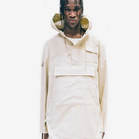 Open Fit Large Pocket Parka in Cream