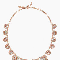 Kate Spade Disco Pansy Single Strand Short Necklace Clear/Rose Gold