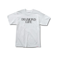 Diamond Life Tee in White