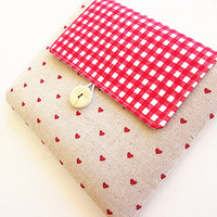 Macbook 11 inch -Sleeve Macbook Air/pro Case- Padded 11 in Microsoft Surface case- Hearts