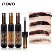 NOVO Brand Red Wine Peel Off Dye Eyebrow Gel Cream 72h Long-lasting Sombrancelha Enhancer Wax Paint Tint My Eye Brows Gel Makeup