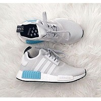 ADIDAS Women Running Sport Casual NMD Shoes Sneakers Blue-White F