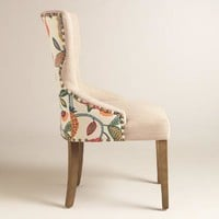 Timeless Grace Floral and Natural Linen Maxine Dining Chair