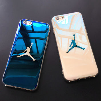 Fashion Michael SuperNBA Jordan 23 Chicago TPU soft Blu-ray laser Ultra Thin Back Cover case for iPhone 6 6s 4.7'' / plus 5.5