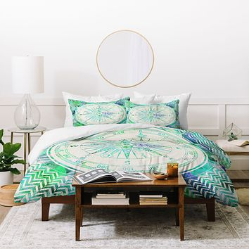 Bianca Green Follow Your Own Path Mint Duvet Cover