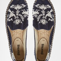 Soludos Embroidered Espadrille Flat Shoes