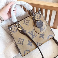 Louis Vuitton LV New fashion monogram leather shoulder bag women handbag crossbody bag
