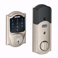 Smart Lock Door Bolt Touchscreen With Alarm