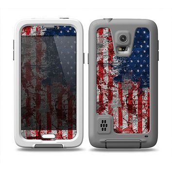 The Grungy American Flag Skin for the Samsung Galaxy S5 frē LifeProof Case