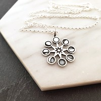 Moon Phases Charm Necklace - Dainty Sterling Silver Jewelry