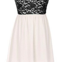 The Strapless Black Lace Dress - 29 N Under