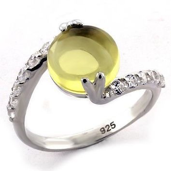 Mens Silver Wedding Ring LOAS1123 - 925 Sterling Silver Ring with Synthetic