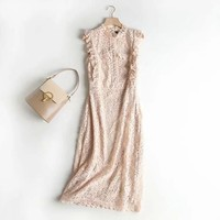 Hot style women's hot summer sexy slim cut slim lace dress