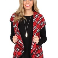 Learn To Fly Red Plaid Vest | Monday Dress Boutique