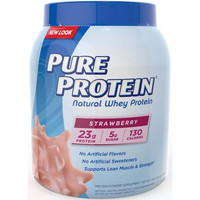 Pure Protein Whey Protein 100% Natural Strawberry 1.6 Lb