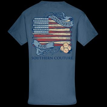 Southern Couture Classic Americas Favorite Game Baseball T-Shirt
