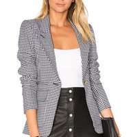 Smythe Patch Pocket Blazer in Navy Check | REVOLVE