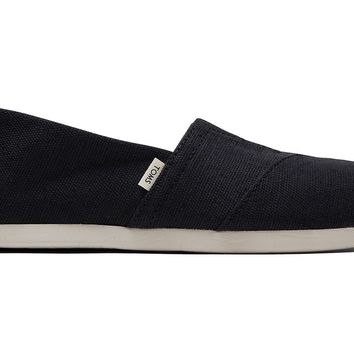 TOMS - Venice Collection Black Heritage Canvas Women's Classics ft. Ortholite Slip-Ons