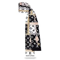 LV 2019 new silk hair band small scarf