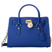 MICHAEL Michael Kors Hamilton 18K East/West Satchel Elctric Blue - Zappos.com Free Shipping BOTH Ways