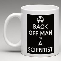 Bill Murray Ghostbusters Back Off Man I'm A Scientist Coffee Mug Tea Cup Gift