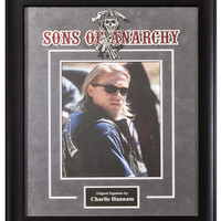 Sons of Anarchy Signed by Charlie Hunnam Movie Poster in Framed Case