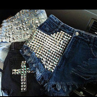 Stud Me High Waisted Shorts