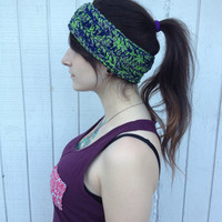 Multicolor Seahawks Themed Headband / Crochet Headband / Crochet Ear Warmer / Fall Fashion / Winter Fashion