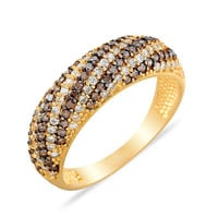 Wedding Band 14k Solid Gold Ring Pave Hand-Entgraved Ring Best Price Black And White