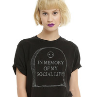 In Memory Of My Social Life Crop Top