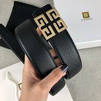 Givenchy smooth buckle fashion versatile business 4G high-end belt belt-3