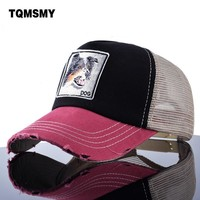 Trendy Winter Jacket TQMSMY Embroidery dog pattern Baseball Cap men Mesh hat casual Brand Snapback Caps Unisex Hip Hop bone sun hats women casquette AT_92_12