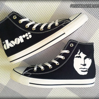 Jim Morrison / The Doors Custom Converse / Painted Shoes