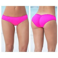 Mapale 6850 Ruffle Ruched Hipster Swimsuit Bottom Color Pink