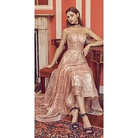 Andrea & Leo A0656 Rose Gold Sweetheart Neckline Strapless Long Prom Dress