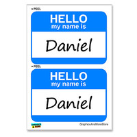 Daniel Hello My Name Is - Sheet of 2 Stickers