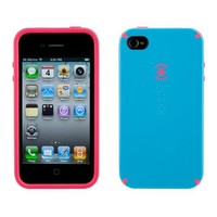 Speck Cotton Candy Dandy Blue Light Blue & Pink Shell Case for Apple iPhone 4