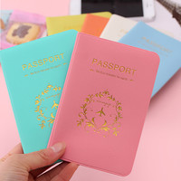 SINOKAL Fashion PVC Passport Holder Cover Document Folder Travel for Passport Protecting