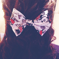 Minnie and Mickey Mouse hair bow